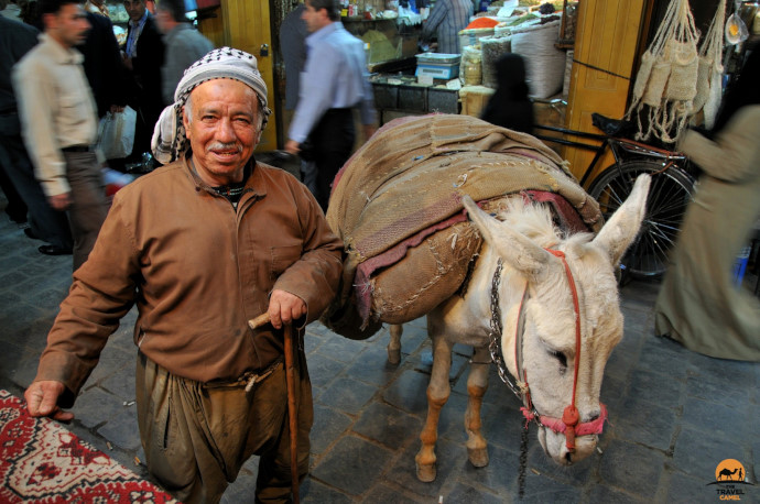 Man and his donkey by photographer of the month Shane Dallas
