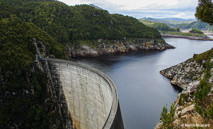 Gordon Dam Tasmania by Marco Muscarà