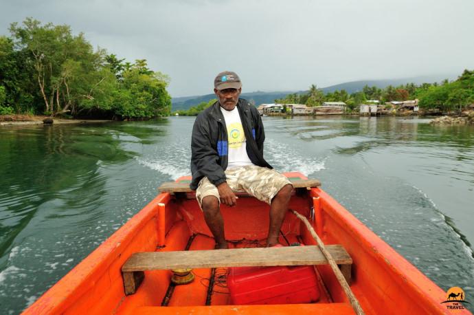 Travelling Across Placid Langa Langa Lagoon by photographer of the month Shane Dallas