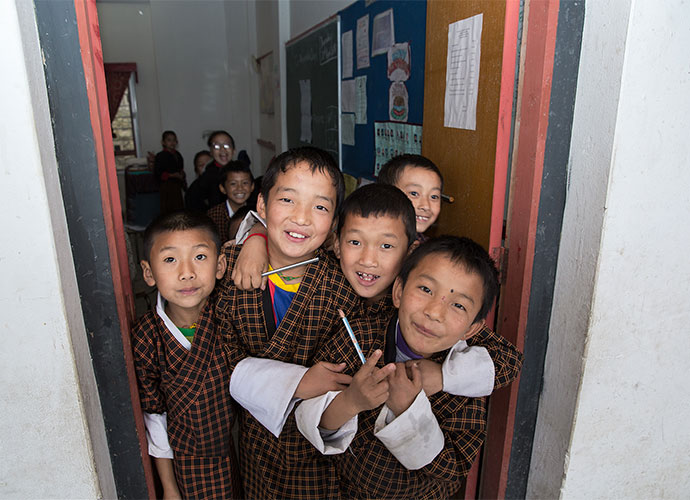School children Bhutan by letusgophoto