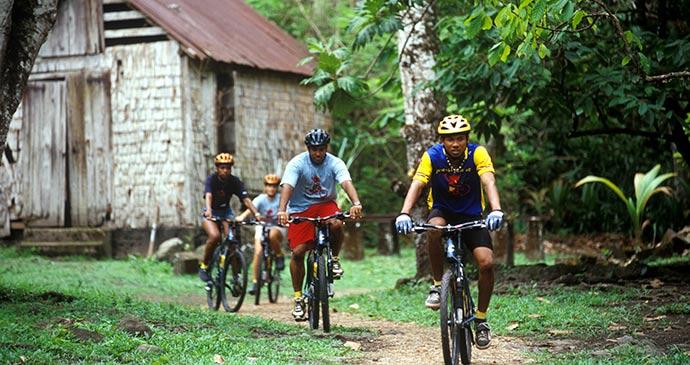 Mountain biking on Saint Lucia © Saint Lucia Tourist Board