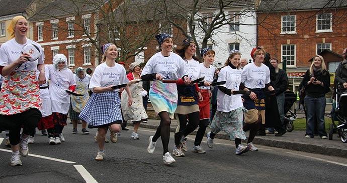 Pancake race Olney England UK by Robin Myerscough Flickr