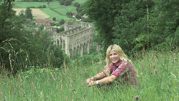 Ellie Harrison at Rievaulx Abbey, Secret Britain