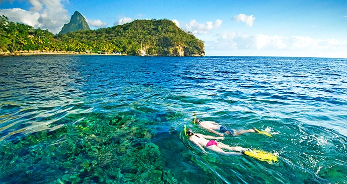 Snorkelling at Anse Chastanet © Saint Lucia Tourist Board