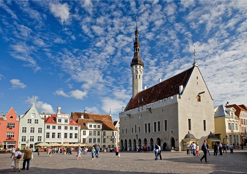 Town Hall square in Tallinn, Estonia by Visit Estonia
